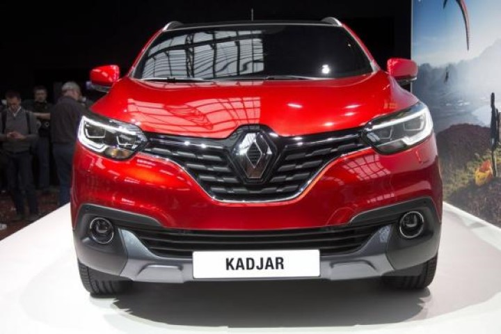A Renault Kadjar, a new crossover SUV, is seen during a presentation in Saint-Denis near Paris